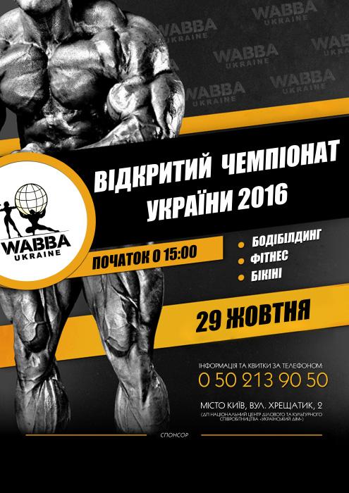 Відкритий чемпіонат України 29 жовтня 2016 року